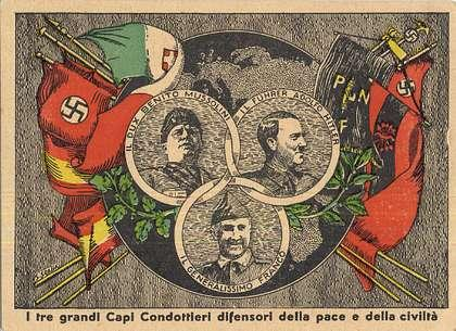 Franco Mussolini Hitler