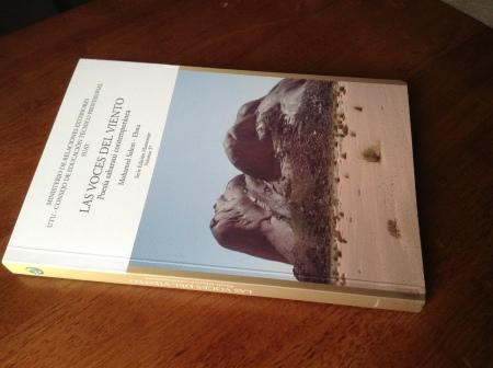 A copy of the book Las voces del viento