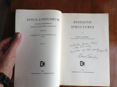syntactic structures Chomsky